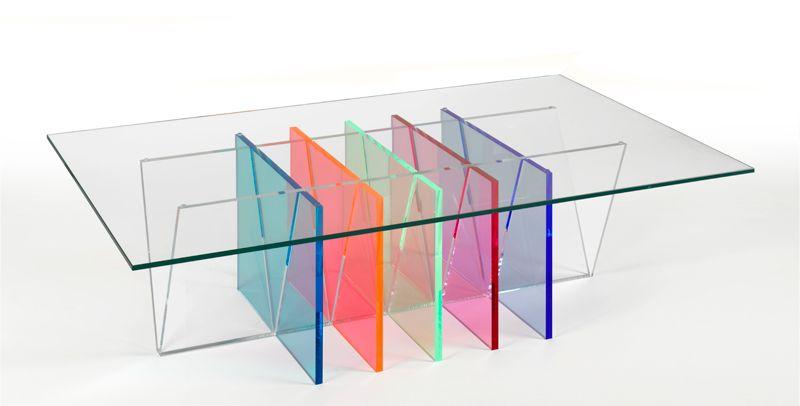 table basse olica en verre trempe et