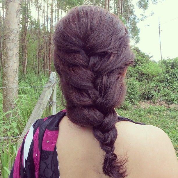 Casual braided hairstyle  #girls #braids