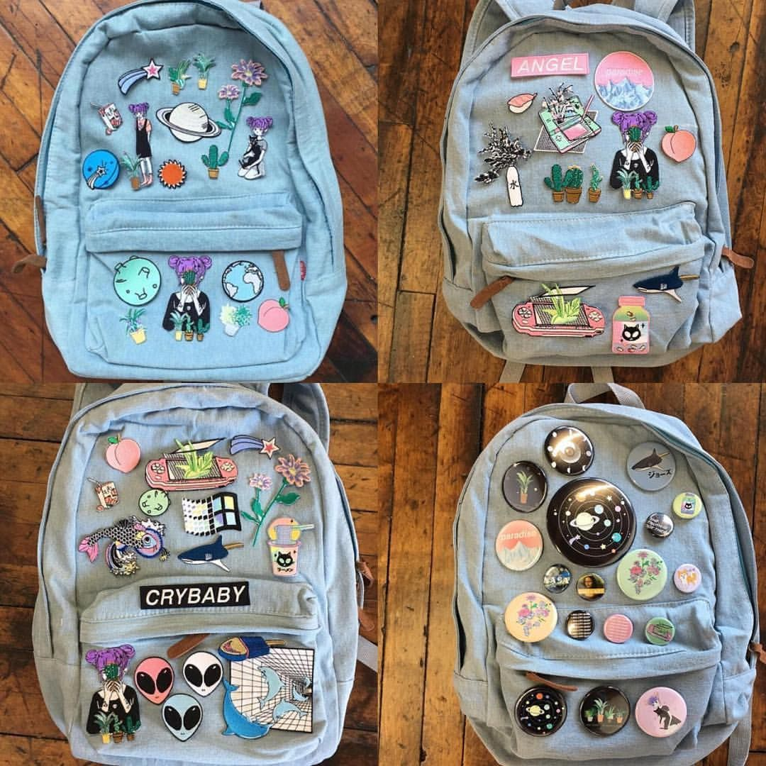 ART VAPORWAVE koko canvas denim backpack | Mochila