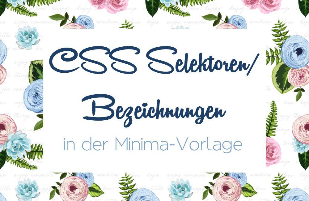 Copy Paste Love: CSS-Bezeichnungen im Minima