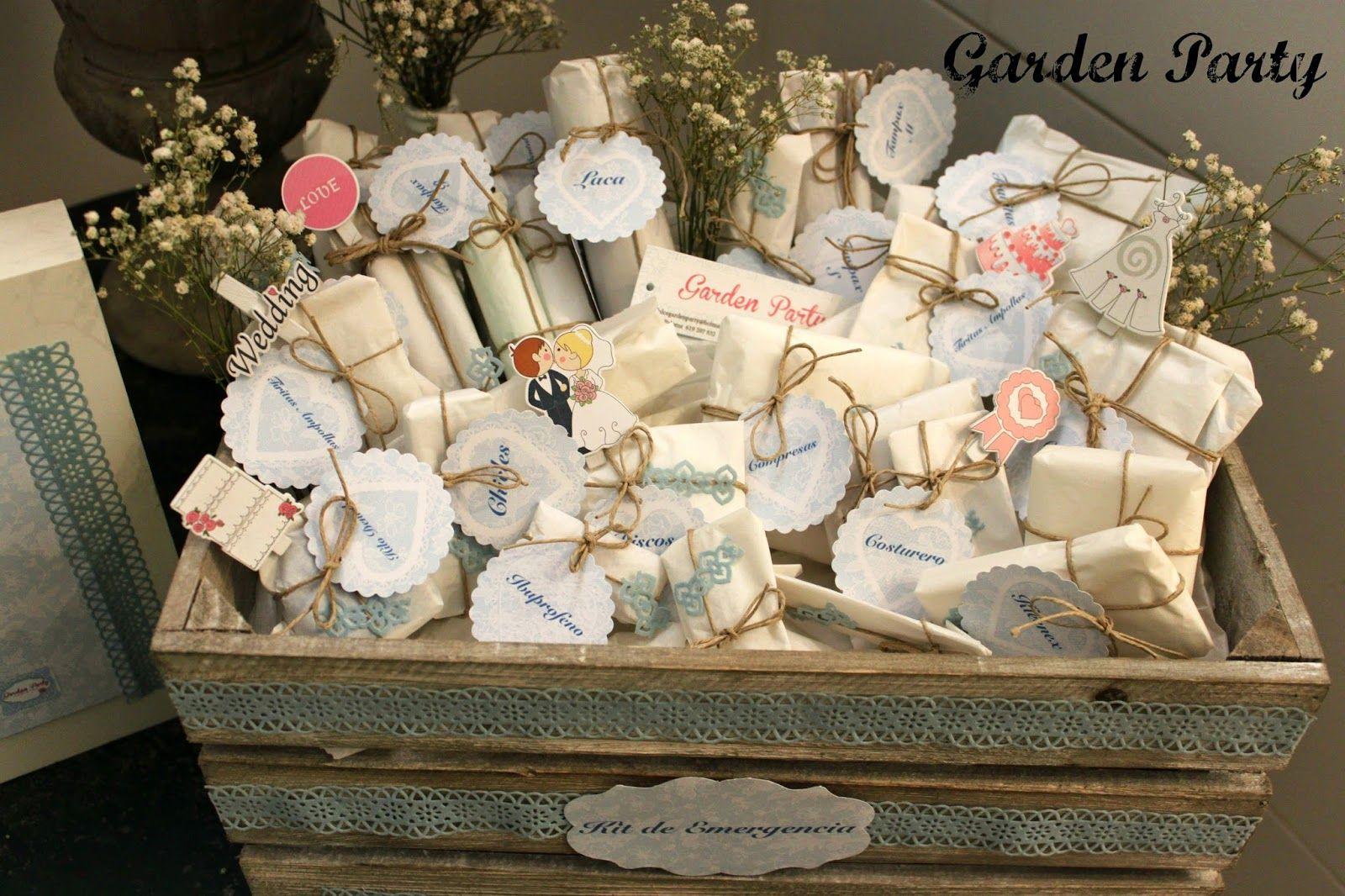 Garden party mesas dulces m laga kit de emergencias para - Kit bano boda ...