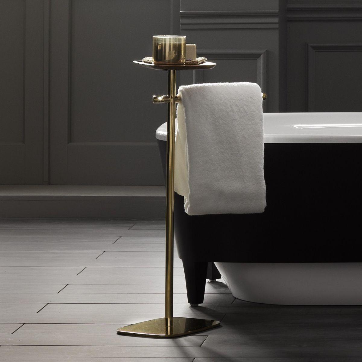Gold Standing Towel Rack