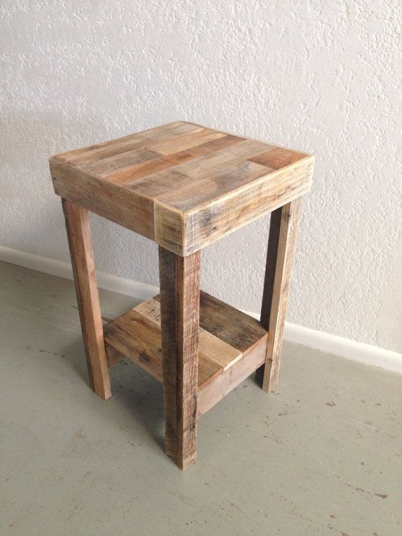Reclaimed Wood Side Table Nightstand End Accent Entry Night Etsy