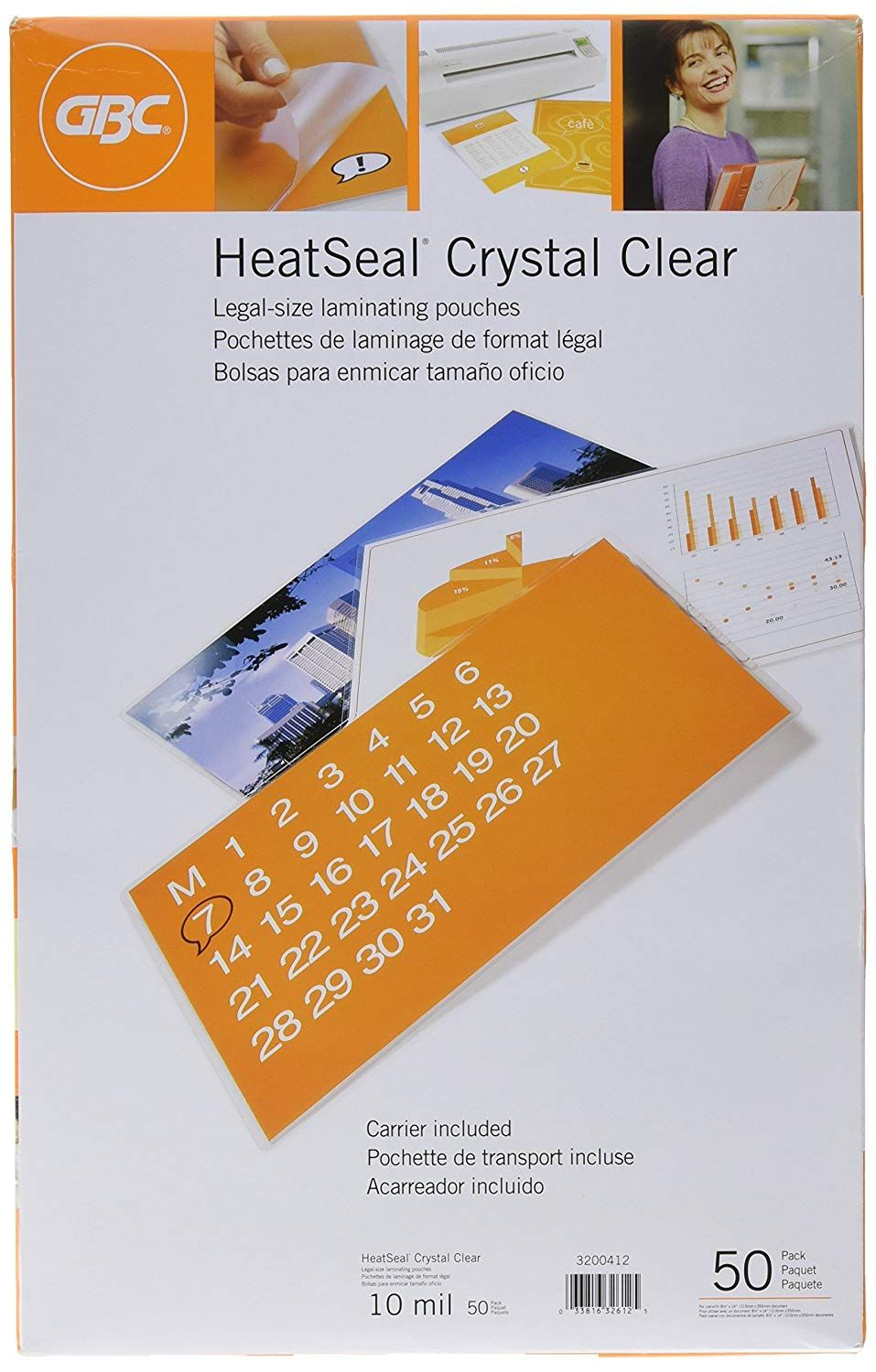 Gbc Laminating Sheets Thermal Laminating Pouches Legal Size 10mil Heatseal Crystal Clear 50 Pack 3200412 Read More In 2020 Glue Crafts Thermal Things To Sell