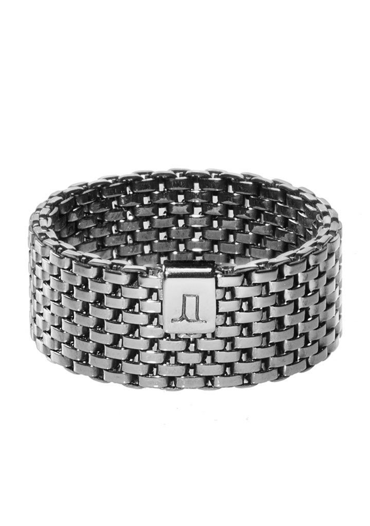 Schwarzer Ring Decode 03 Grey von Jasmina Jovy | NAEKTA