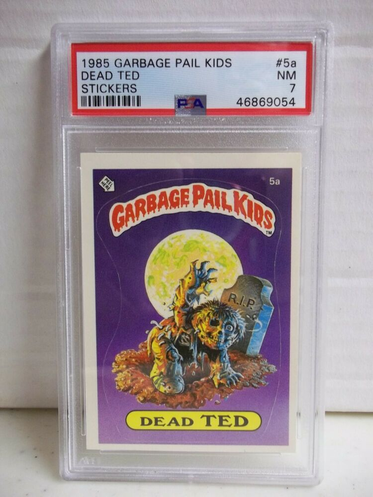 1985 Garbage Pail Kids Dead Ted Psa Nm 7 Stickers 5a Stupid Student Award Ebay Garbage Pail Kids Student Awards Sports Cards