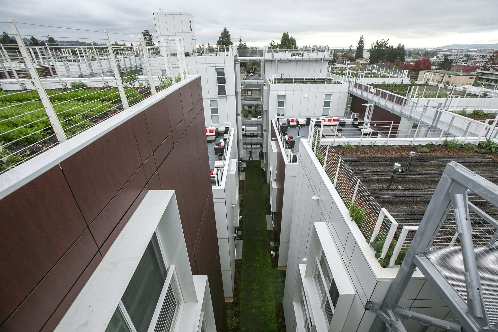 Berkeley Sprouts Creative Housing Topped By A Working Farm Small Apartment Building Home And Garden Garden Lighting Lanterns