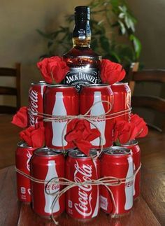 Man Drink Coca Or Coffee For Cake Decoration