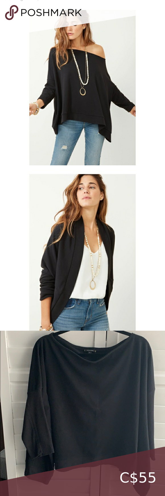 I just added this listing on Poshmark: Stella & Dot Addy Poncho in Black. #shopmycloset #poshmark #fashion #shopping #style #forsale #Stella & Dot #Tops