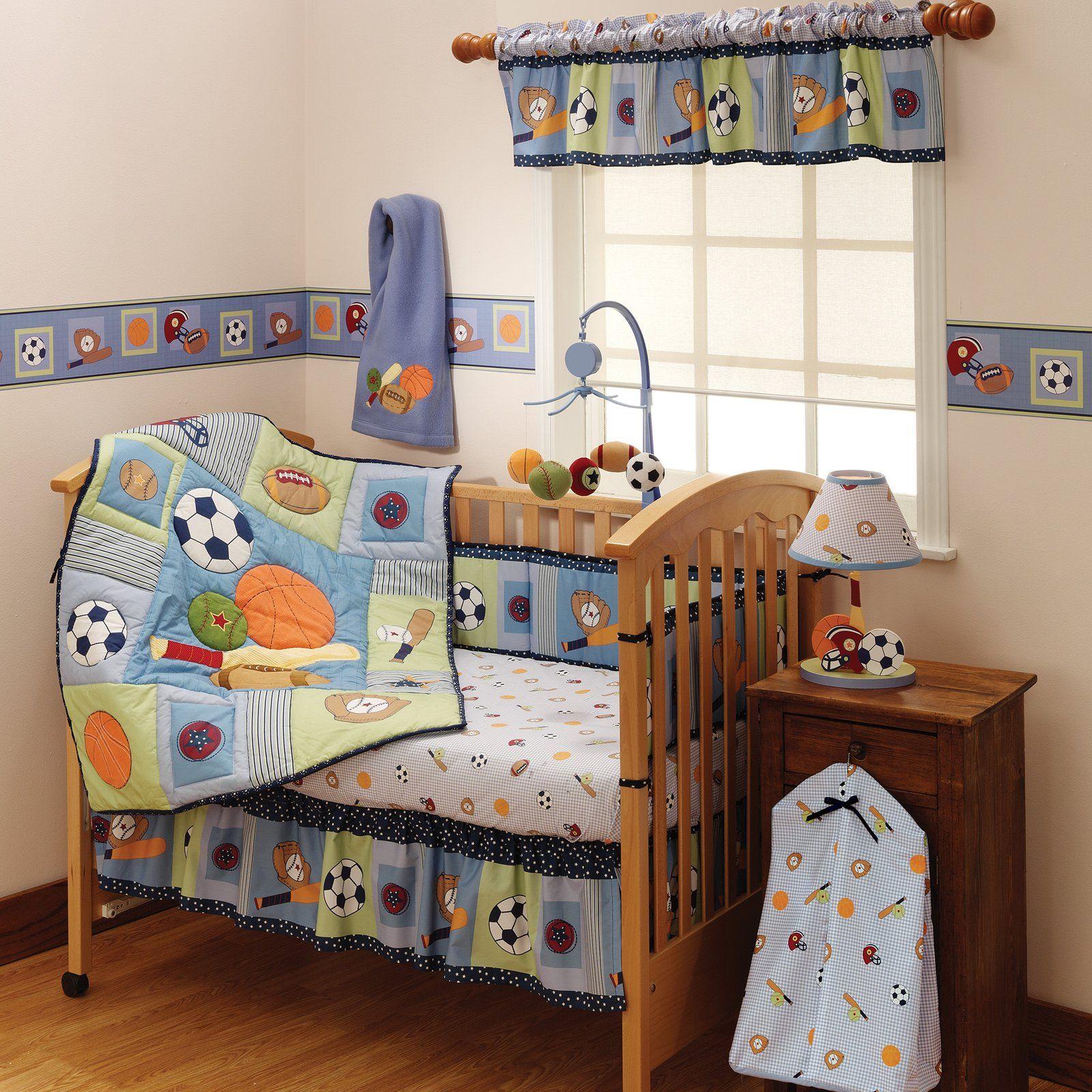 Bedtime Originals Super Sports 3 Piece Crib Set - Best Price I FOUND SOCCER BALLS !!!!!