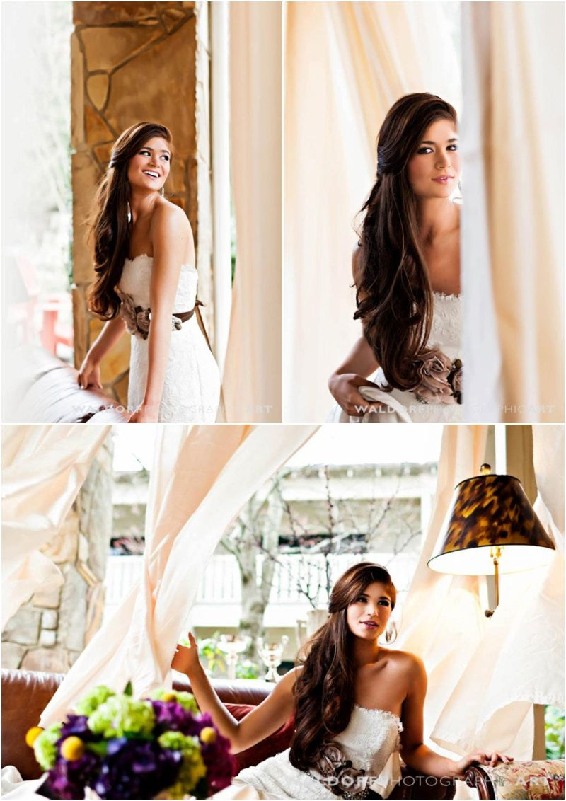 Hair and Make-up Inspiration from Knoxville Weddings | Long hair ...