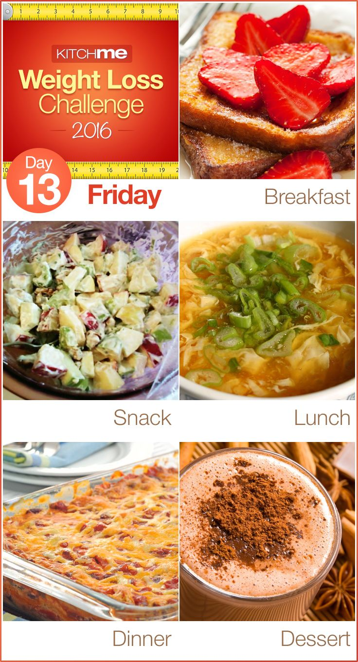 Day 13 Meal Plan Weight Loss Challenge Recipes For Weight
