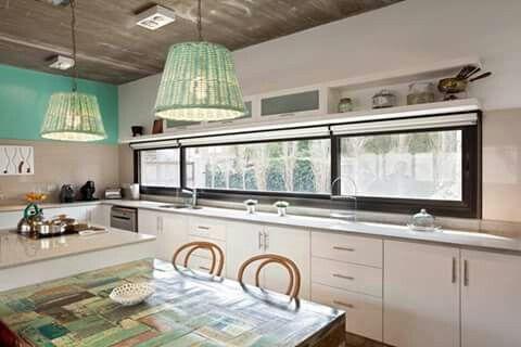 Ventana sobre mesada cocina aberturas de aluminio for Ventanas de aluminio para cocina