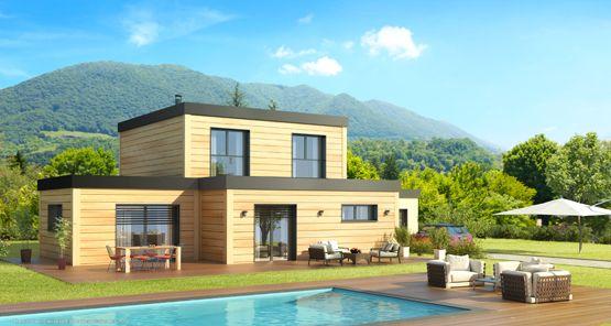 Maison en bois  ce quu0027il faut savoir avant de construire - maison bois en kit toit plat