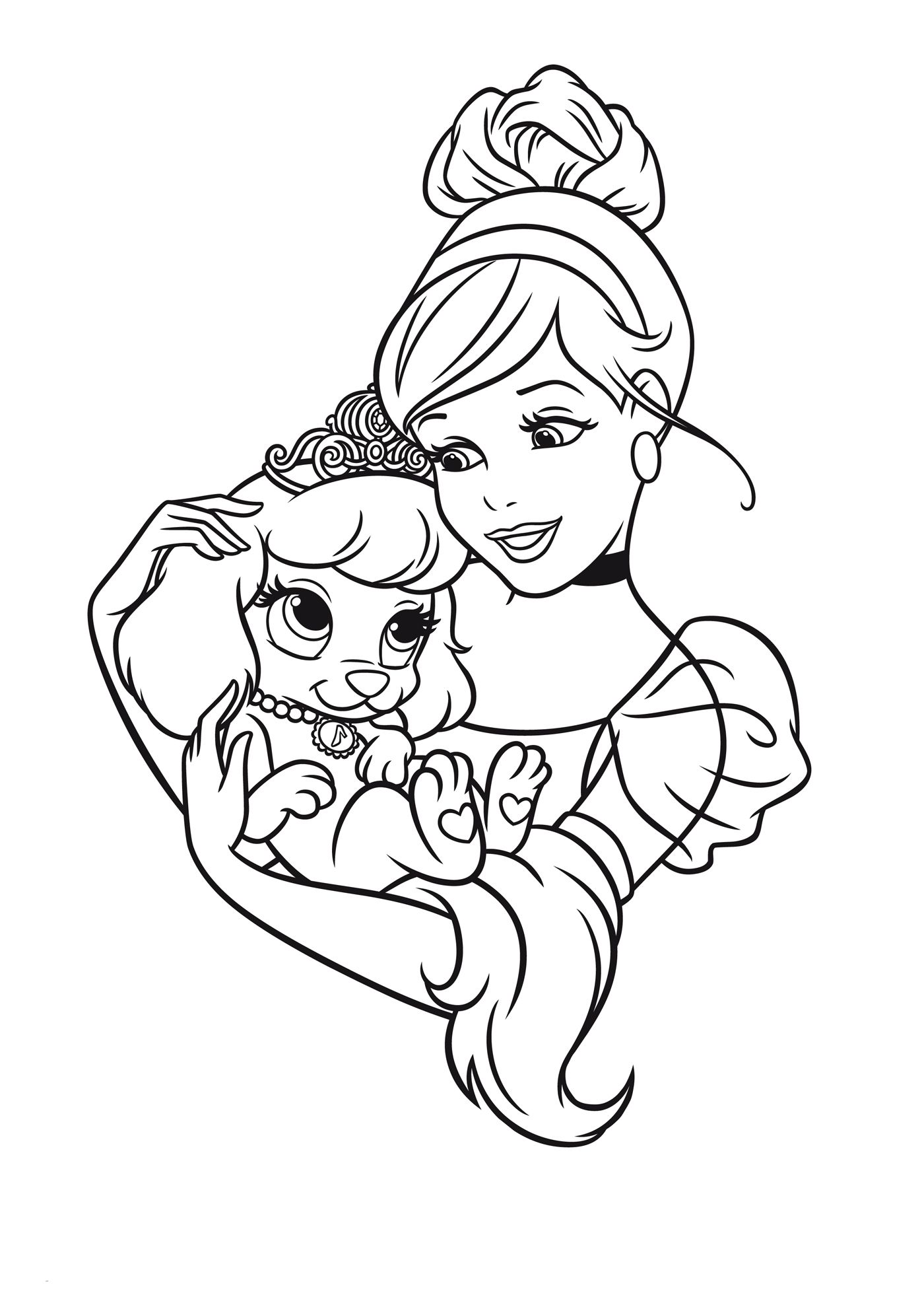 easy princess coloring pages - photo#10