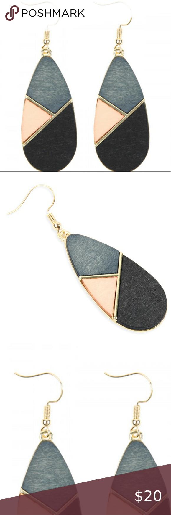 Nwt Geometric Teardrop Chic Color Block Earrings In 2020 Things To Sell Clothes Design Fashion Tips
