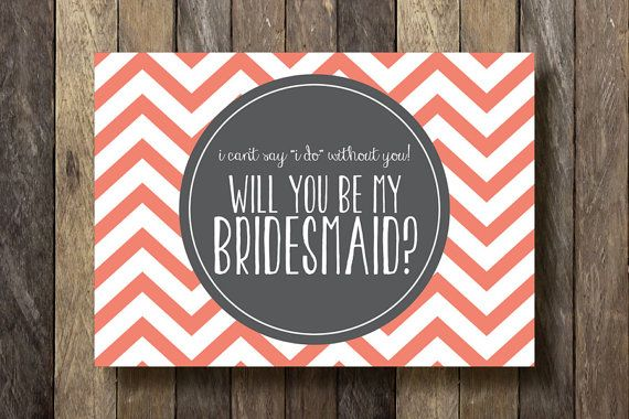Will You be my Bridesmaid  Printable 5x7  by TheLionAndTheLark, $5.00