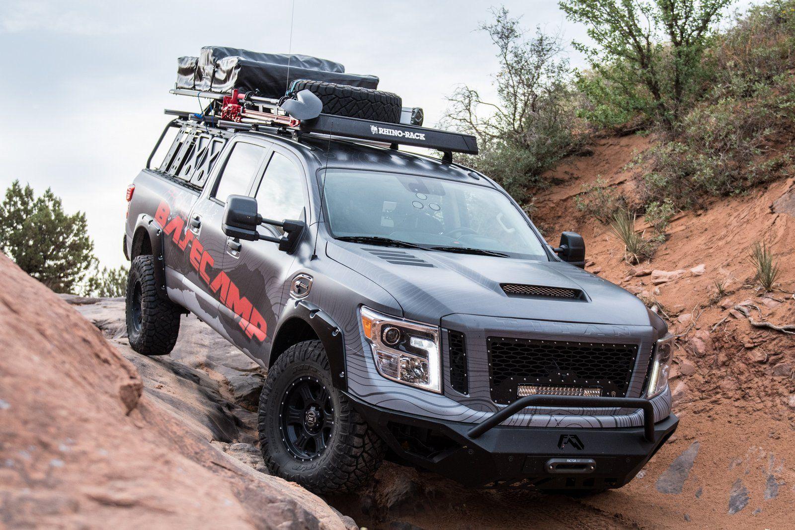 Nissan Titan Xd Pro 4x Project Basecamp Is One Tough Truck Carscoops Nissan Titan Xd Nissan Titan Nissan Titan Pro 4x