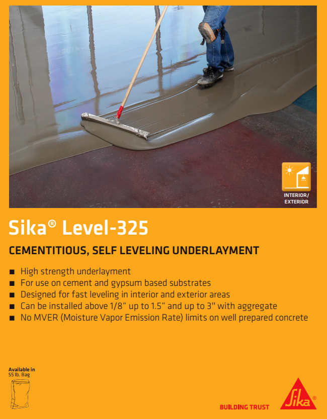 Sika Level 425 Is A One Component Durable And Versatile