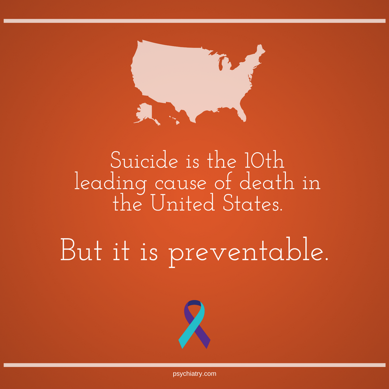 Suicide can be prevented. Knowing the risk factors and recognizing the warning signs for suicide can help reduce the suicide rate. #mentalhealth #SuicidePreventionMonth