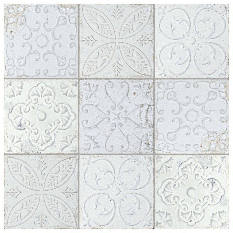 Aevit 8 X 8 Ceramic Field Tile Tiles Shabby Chic Kitchen