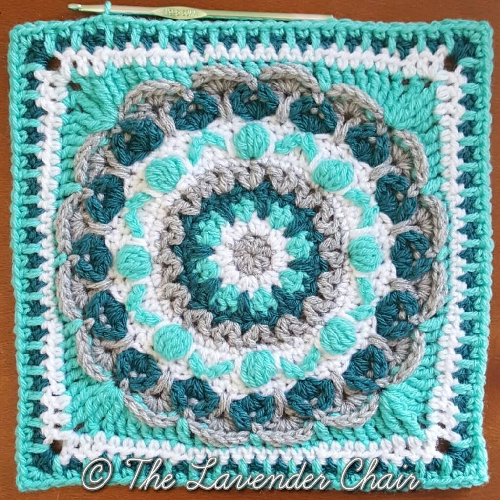 Chrysanthemum Mandala Square - Free Crochet Pattern Mandala Blanket ...