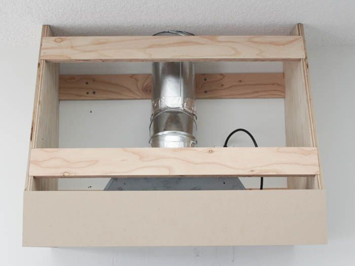 How to Build a DIY Range Hood Fan {for a Broan Insert | Pinterest ...