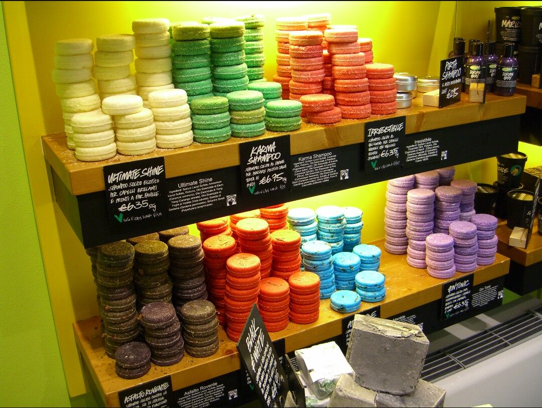 Solid shampoo bars from lush