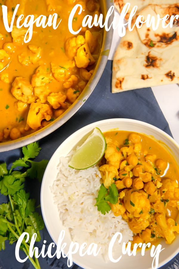 Cauliflower Chickpea Curry Girl With The Iron Cast Recipe Vegan Curry Recipes Chickpea Curry Curry
