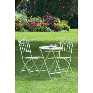 3f908318f1 Buy Versailles Bistro Set - Antique Cream at Argos.co.uk, visit Argos.co.uk  to shop online for Garden table and chair sets