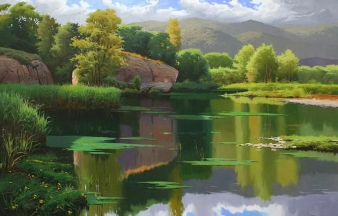 Ramon Pujol Realistic Oil Paintings Fine Art Blogger Landscape Paintings Landscape Photography Nature Realistic Oil Painting