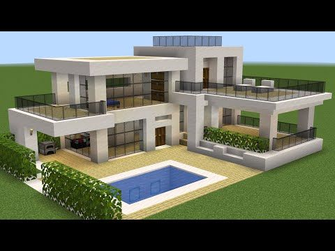 Minecraft How to build a modern house 37