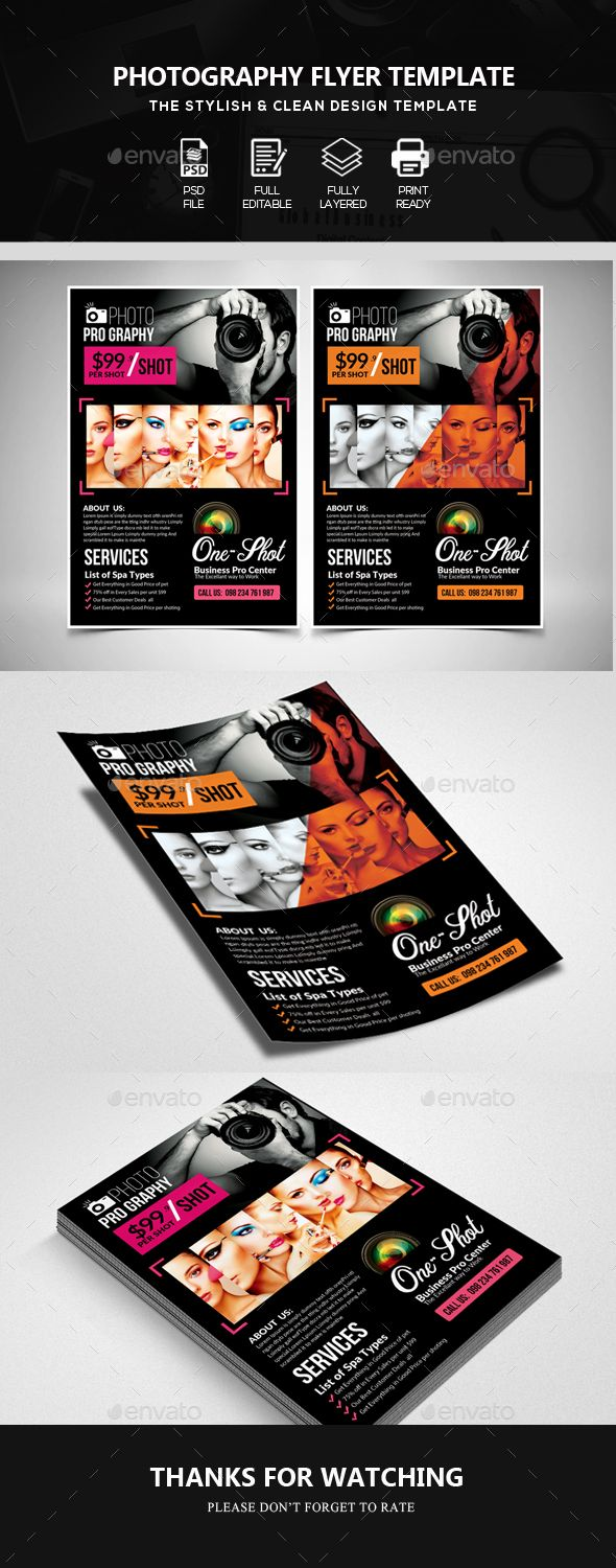 Photography Promotion Flyer Template Psd