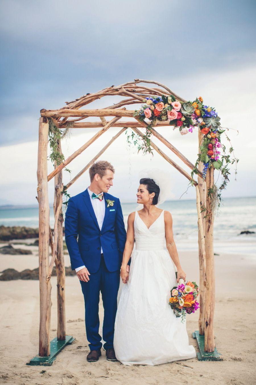Elegant colorful beach wedding wedding beach weddings and