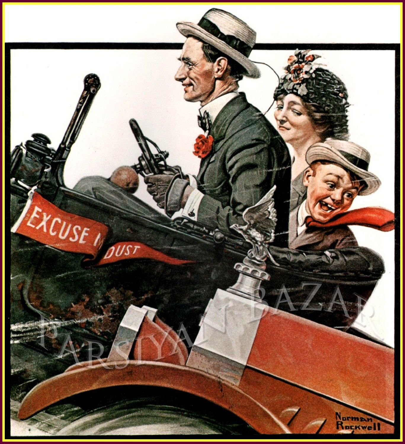 Norman Rockwell The Open Road Vintage Old Art Print 100