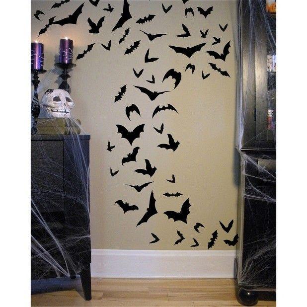 Pinterest Halloween Wall Decor : Wall art bats at target halloween