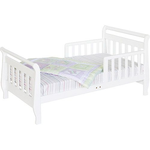 Baby Mod Sleigh Toddler Bed White 89 Ship To Store Walmart