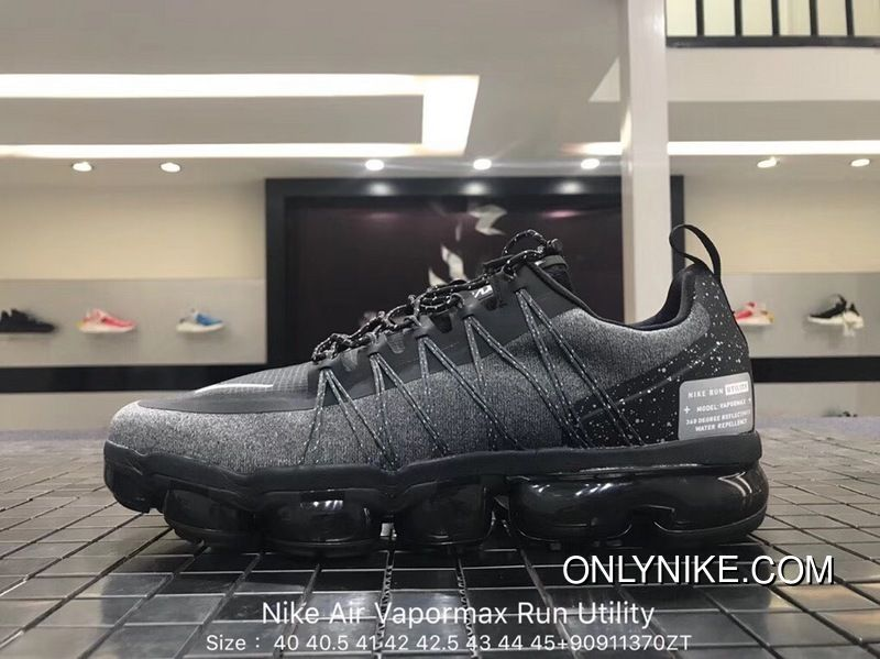 f275a077d8 Nike Air Vapormax Run Utility 2018 849557-113 Dark Grey Black Original Mens  Running Shoes Discount