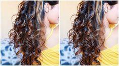 Easy HEATLESS Curls I Using DIY Hair Donut I 5 Minute NO Heat Sock Curls I Easiest Overnight Curls