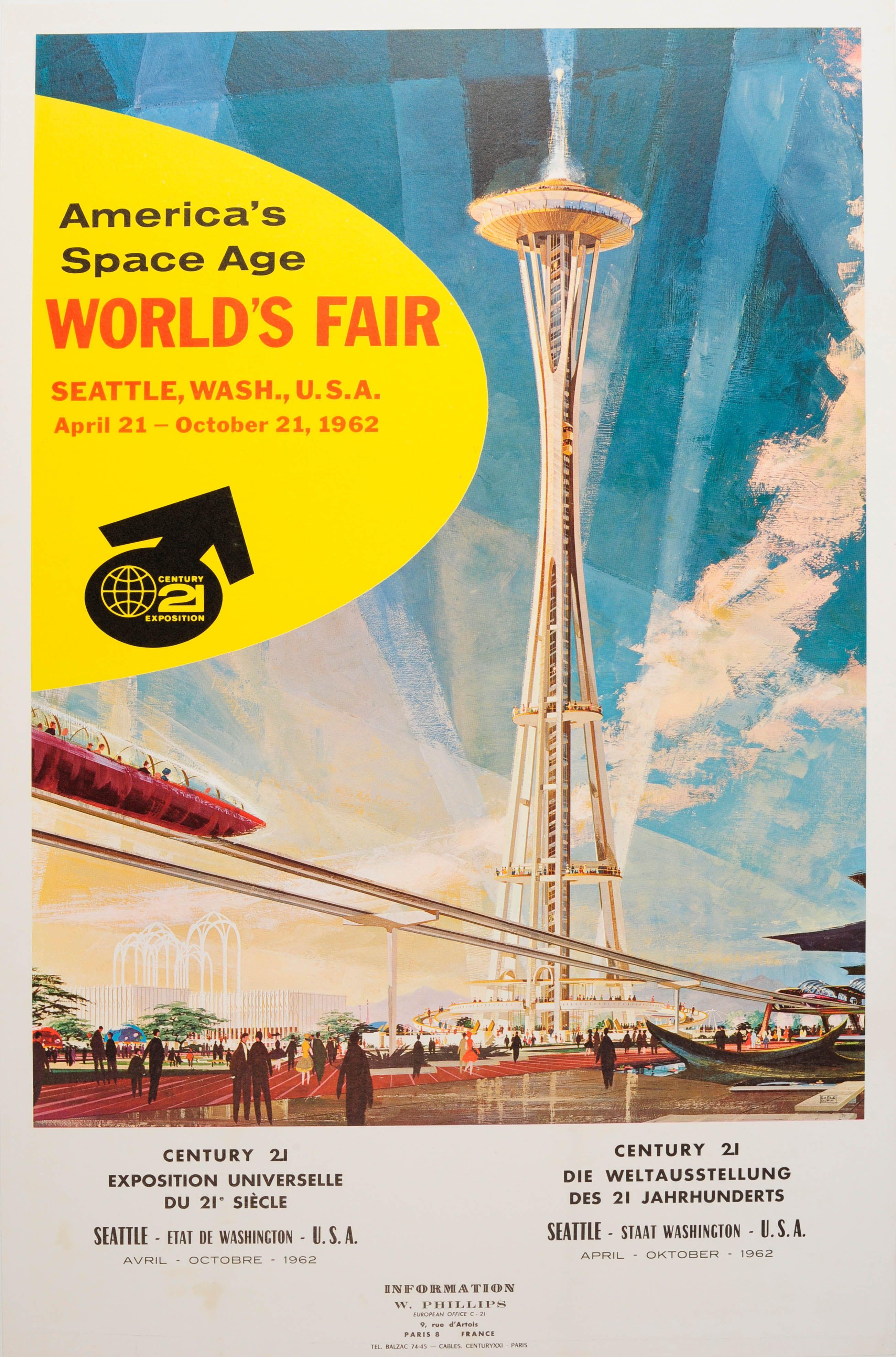 Seattle World Fair Century 21 Space Age 1962 Original