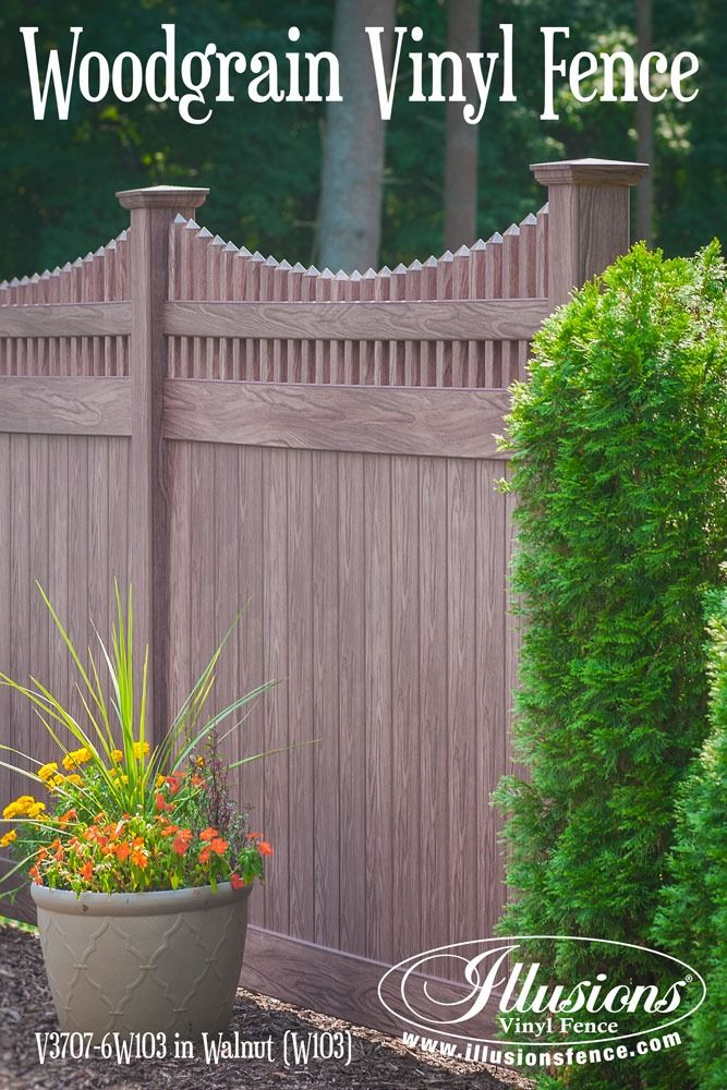 New Fence Ideas This Beautiful V3707 6W103 Walnut