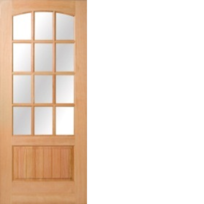 Fir Wood 12 Lites Low E Ig Arch Top Beaded Panel 1 3 8 Hip Raised Panel Door Raised Panel Doors Panel Doors Raised Panel