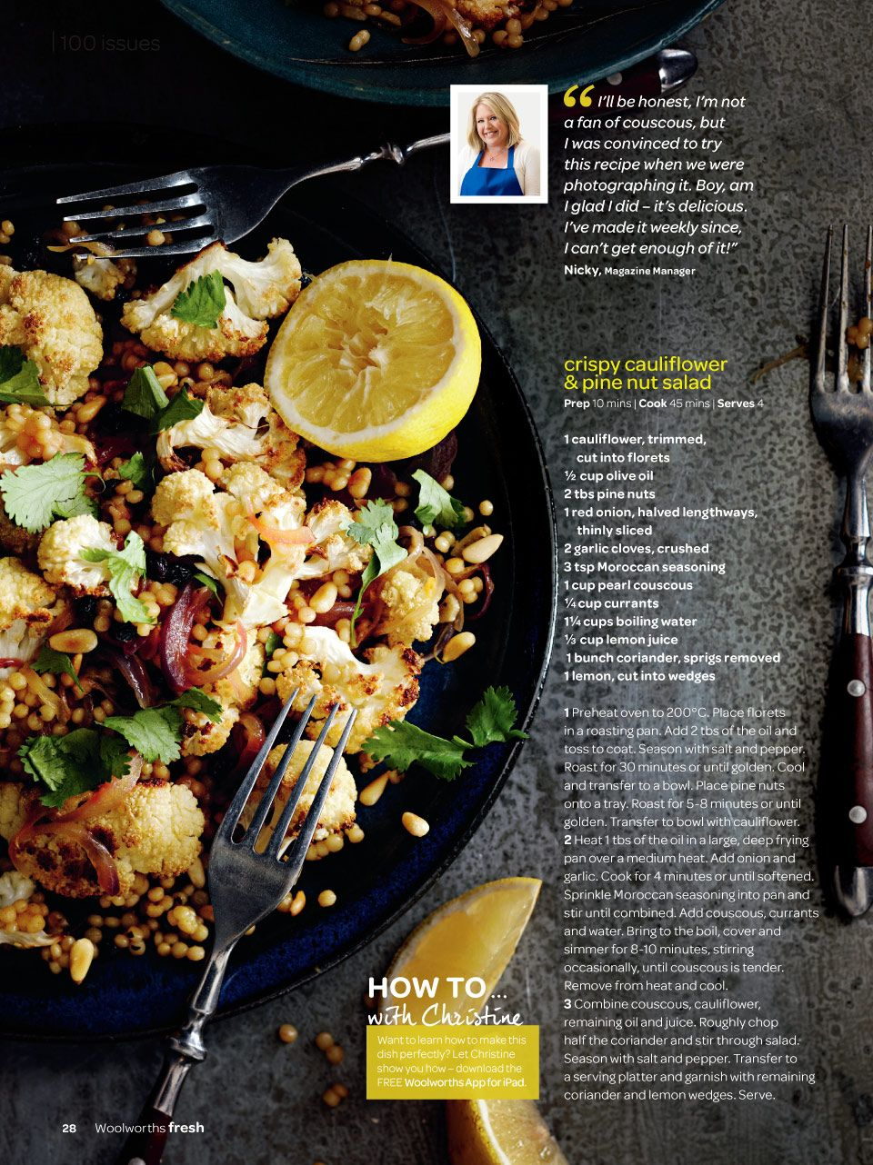 Woolworths Magazines Recipes Pine Nuts Salad Pine Nut Salad Recipe
