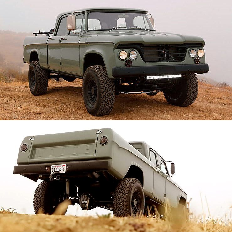1964 Dodge D200 Power Wagon Crew Cab Restomod By Icon Throttlextreme In 2020 Power Wagon Crew Cab Wagon