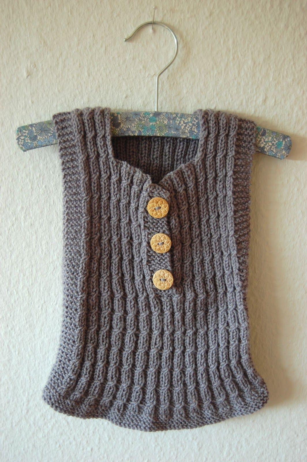 Free Baby Vest Knitting Pattern : Knit vest free patterns diy kids clothes