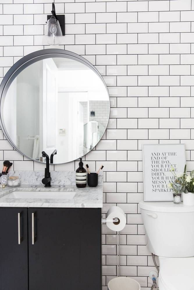 Stephanie Sterkovski S Minimalist 800 Square Foot Home Is A Small Space Dream Bathroom Tile Designs Minimalist Bathroom Bathroom Design
