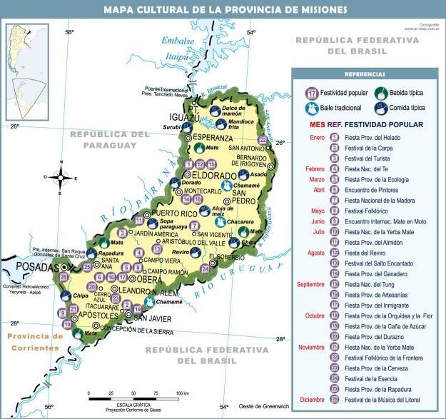 Mapa Cultural De Misiones Más Información Httpmapamapscom - Argentina misiones map