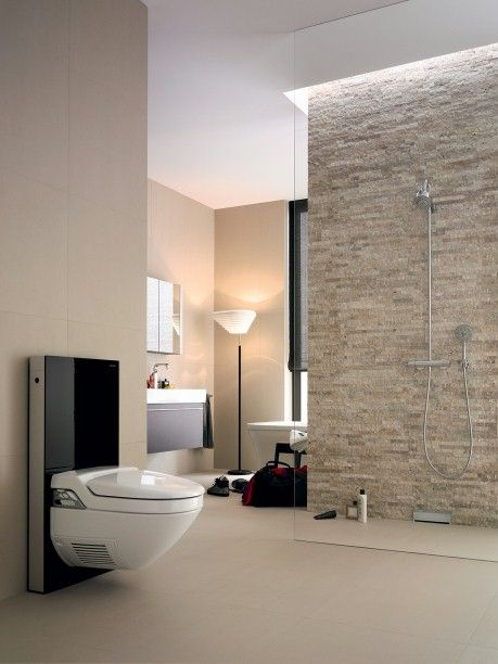 Toilette Monolith Glas Weiss Geberit Starck 2 Duravit