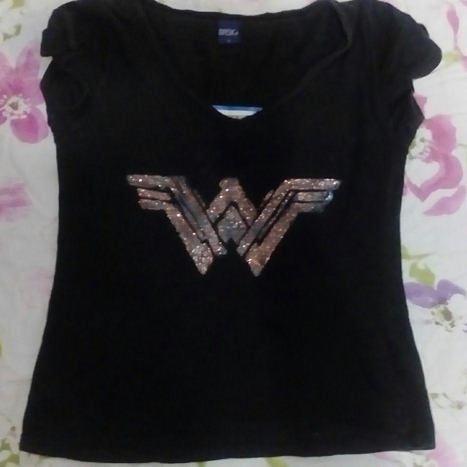 96dda587806ae Camiseta DIY Logo Mulher Maravilha