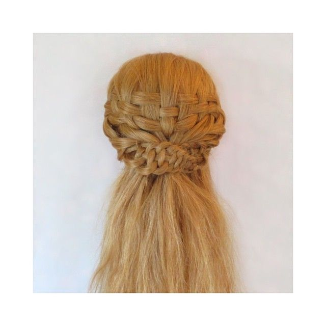 Basket Weave With 4 Strand Slide Up Braids Hairstyles I Love Half